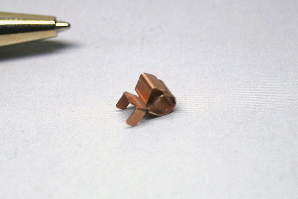 りん青銅 微細バネ接点 試作品製作画像