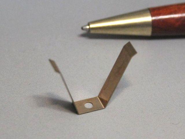接点バネ(りん青銅)t0.15 試作画像
