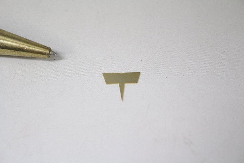 鋭角型 接点製作画像