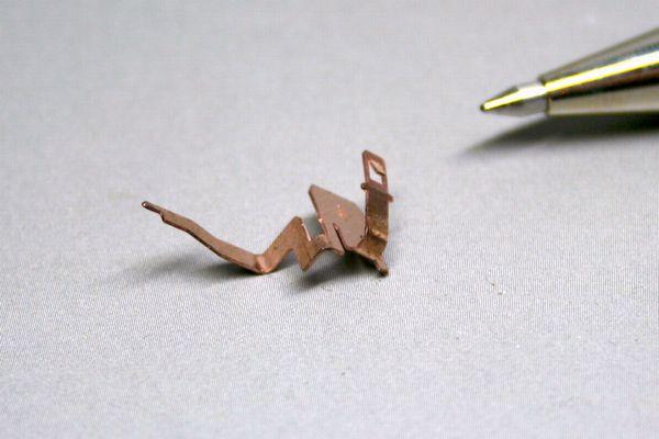 リン青銅製 接点端子の少量製作画像