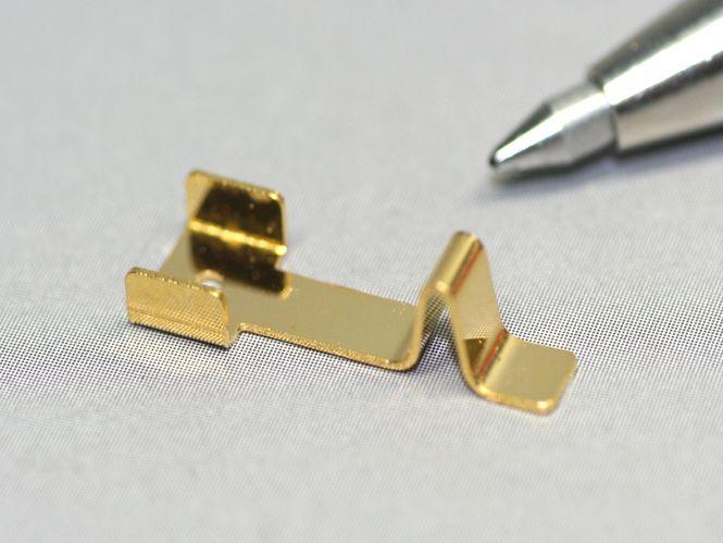 りん青銅接点バネ試作(精密板金)画像