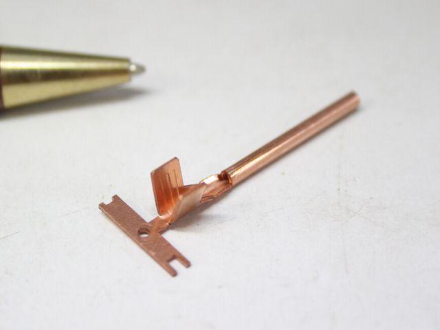 銅の電極 特注製作画像