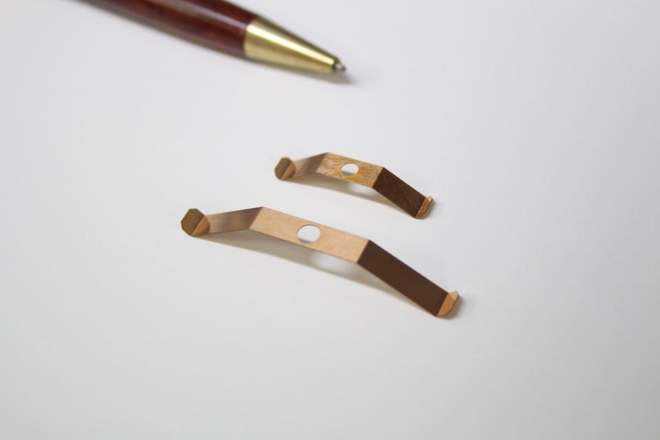 t0.2の薄板 接点バネ製作