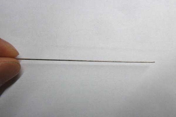 ステンレス製 ピン・針加工(先付研磨)画像