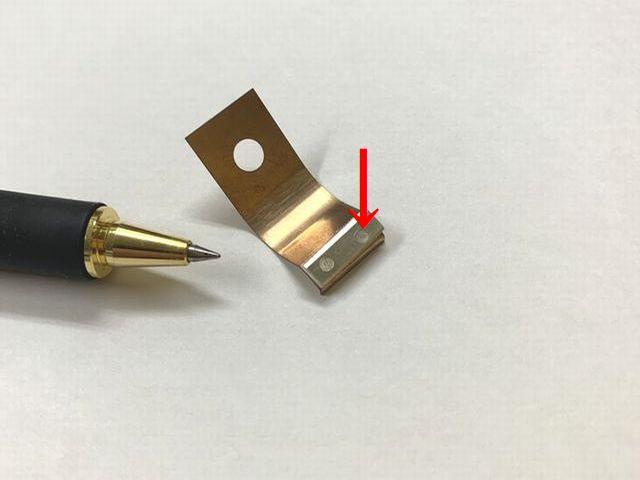 接点 銀とりん青銅のスポット溶接画像