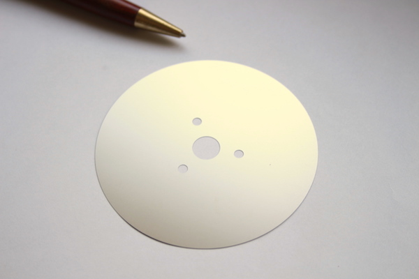 Φ80薄板シムプレートの少量製作事例画像