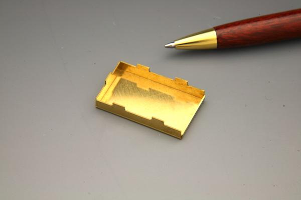 真鍮製 シールドケース 少量製作画像