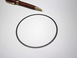 板厚0.2ミリの薄板チタンリング製作画像