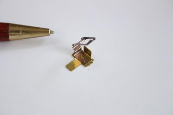 ベリリウム銅x真鍮 接点端子製作