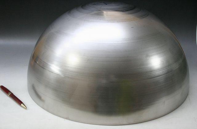 φ500×t2.0 ステンレス半球キャップ製作画像