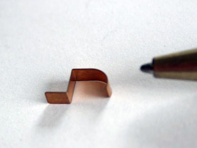 銅t0.1 接点試作画像