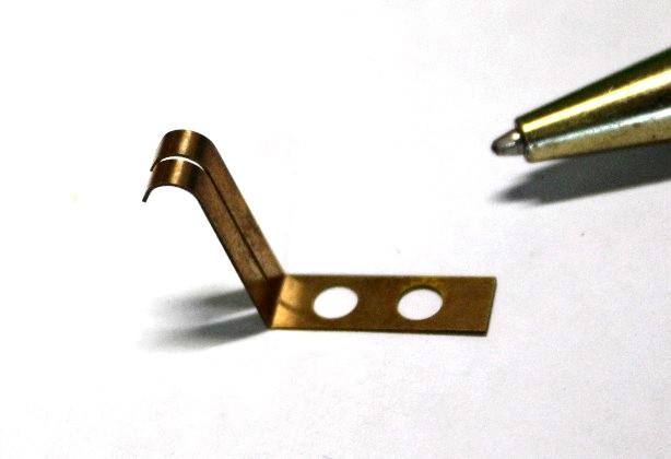 りん青銅t0.1 接点バネ試作画像