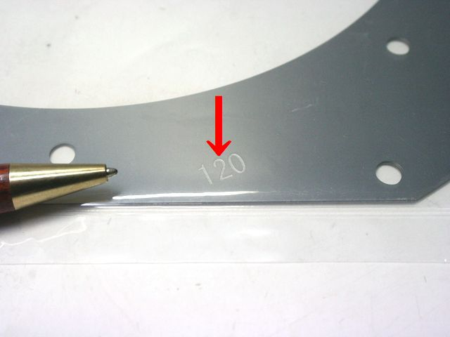 シム(スペーサー)の、刻印事例 製作1個から画像