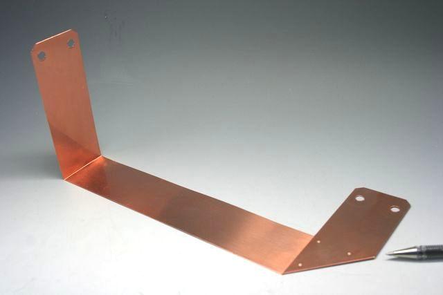 銅スポット溶接加工