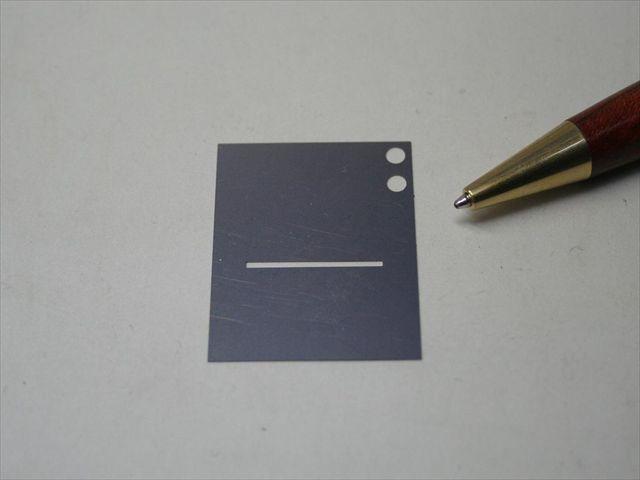 高精度長穴加工 シム板画像