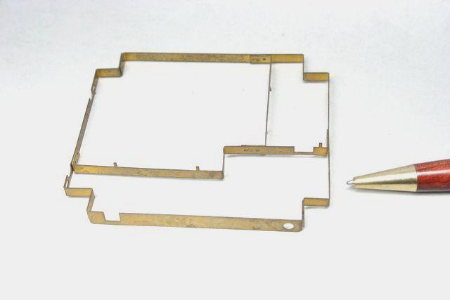 真鍮 シールドケース①(薄板金属加工) 少量製作画像