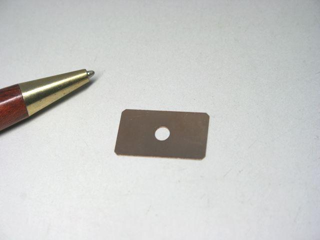 りん青銅 シム(スペーサー)製作 - 試作画像