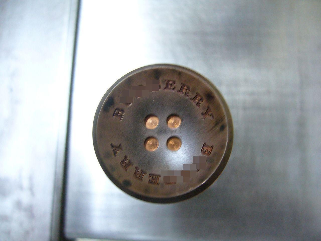 ボタン製作金型用 彫刻、電極画像