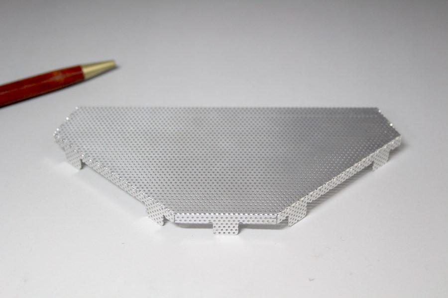 A1050(純アルミ)パンチング材シールドケース 画像